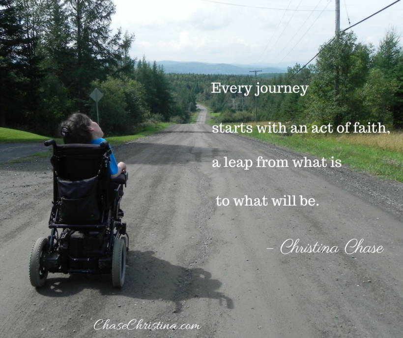 Country road, wheelchair, Christina Chase
